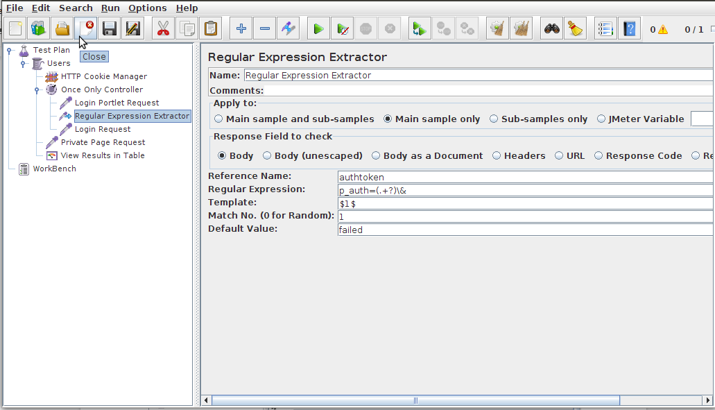 Add Regular Expression Extractor controller