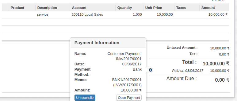 Computer Repair Invoice Word Account Reconciliation In Odoo   Blog  Surekha Technologies How To Write A Invoice Pdf with Letter Of Receipt Now Generate Bank Statement As Per Bank Transaction And Reconcile It With  Existing Invoice As Per Shown In Image Usps Certified Mail Return Receipt Requested