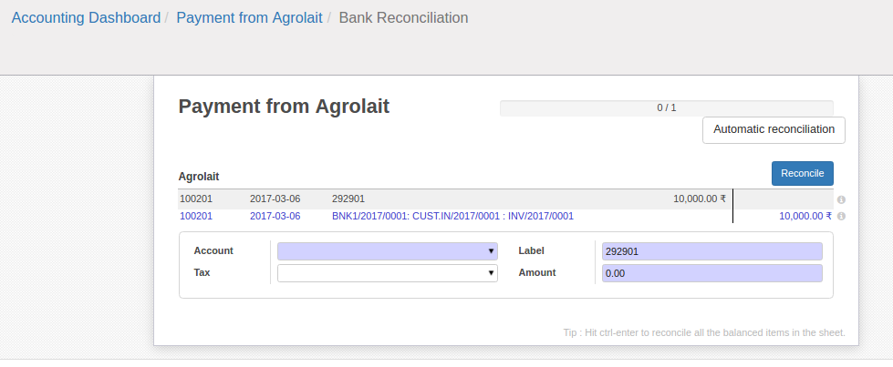 Account Reconciliation in odoo 9 Blog Surekha Technologies – Bank Statement Reconciliation Form