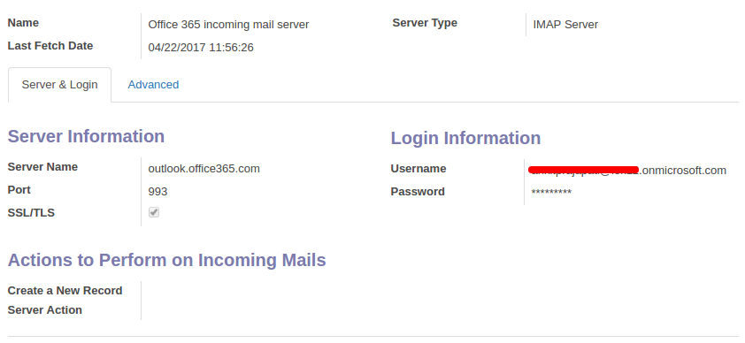 Office 365 mail server configuration in Odoo - Blog