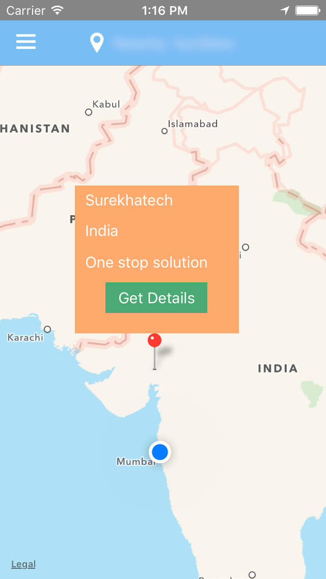 Custom callout view for iOS map - Blog - Surekha Technologies