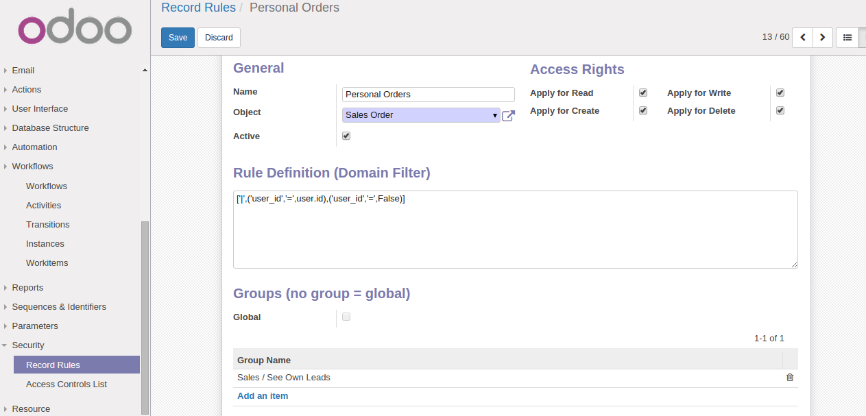 Record Rules   Personal Orders   Odoo22.png
