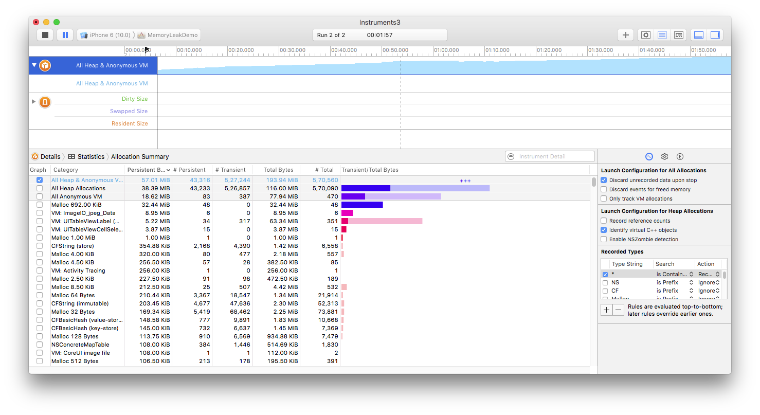 Find memory leaks in iOS apps with XCode Instruments - Blog